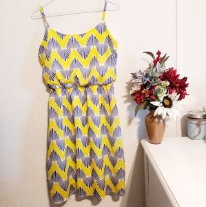 Summer Spaghetti Strap Bright Patterned Dress
